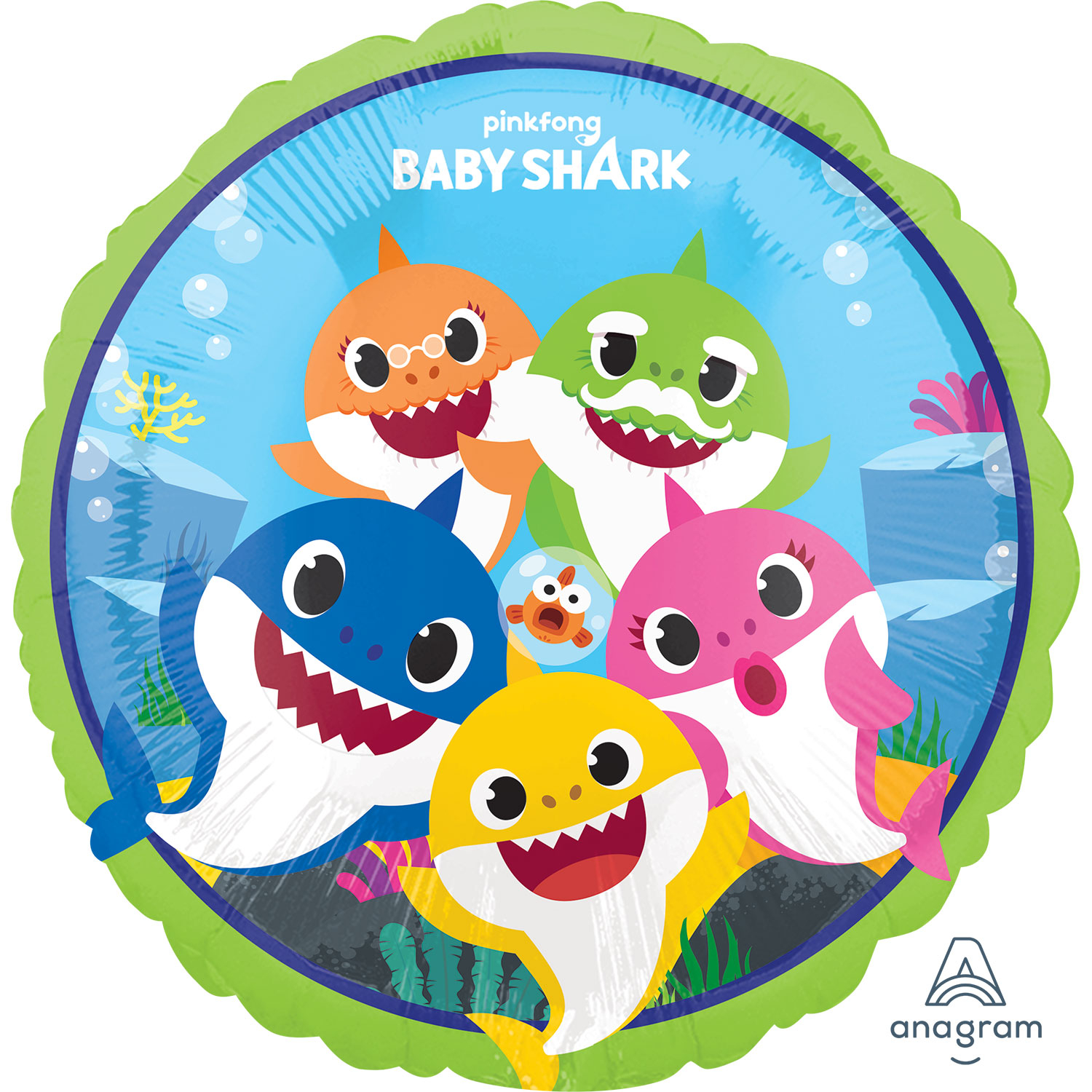 Baby Shark Party Foil Balloons