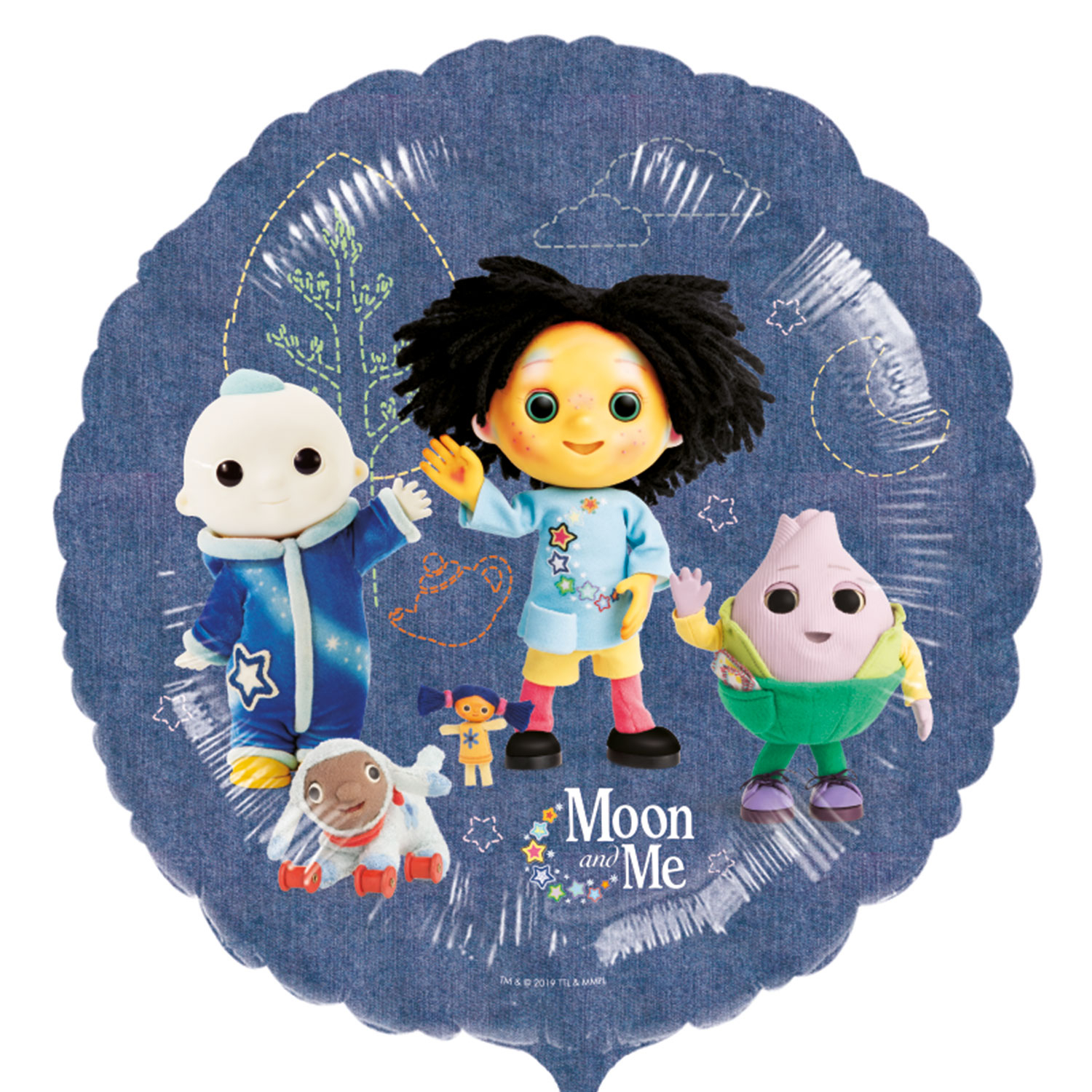 Moon And Me Party Foil Balloons