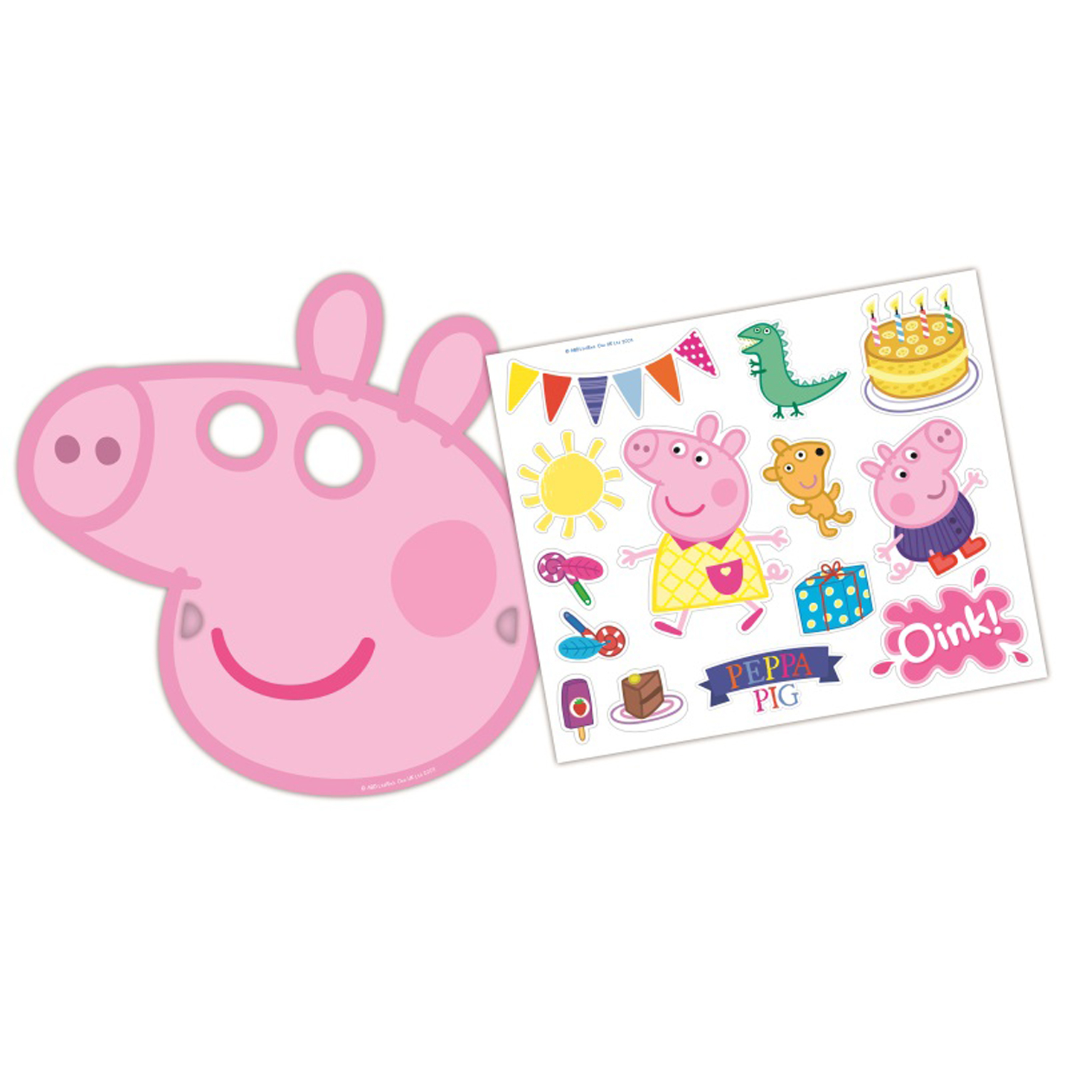 Peppa Pig Rainbow Masks & Sticker Sets