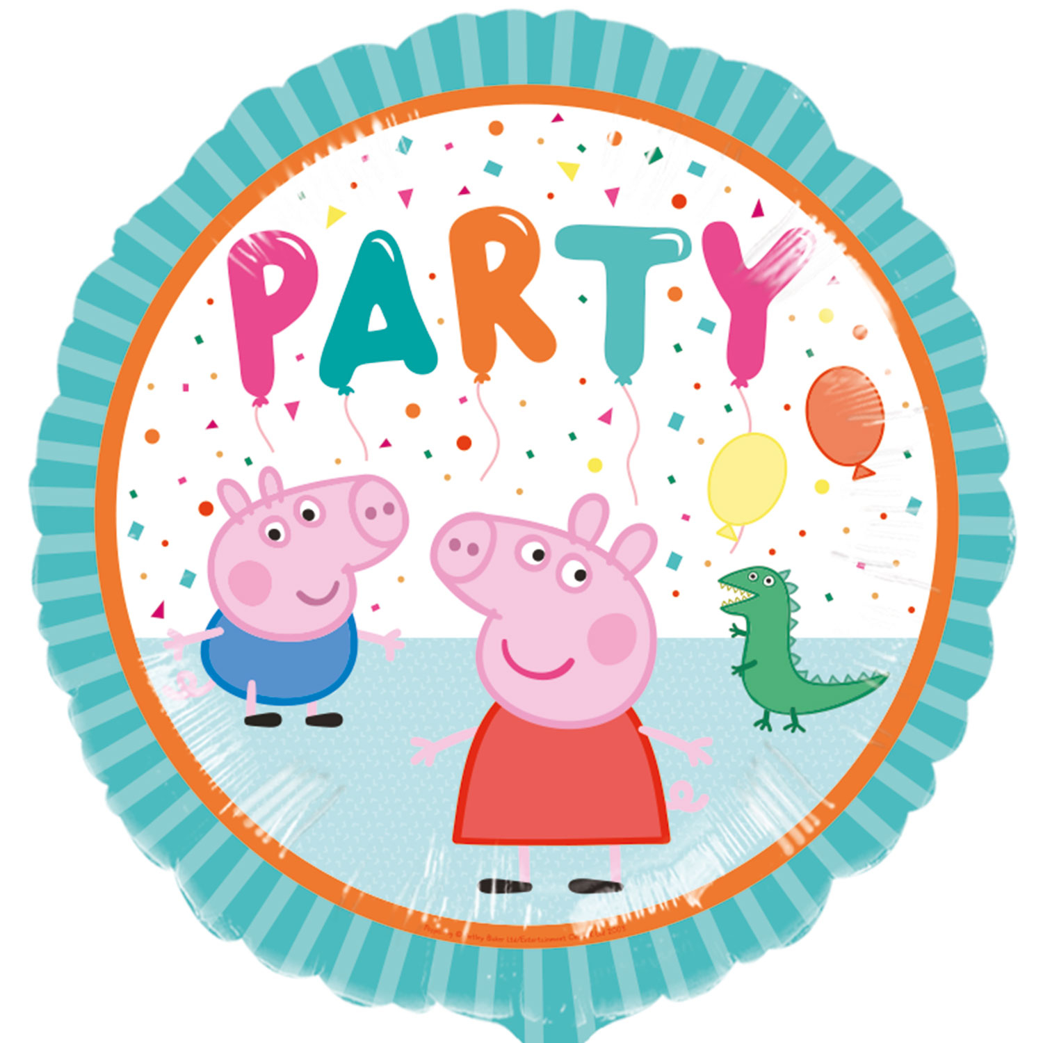 Peppa Pig Rainbow Party Foil Balloon
