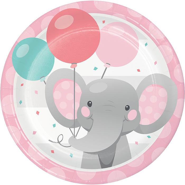 Enchanting Elephants Girl Party Plates