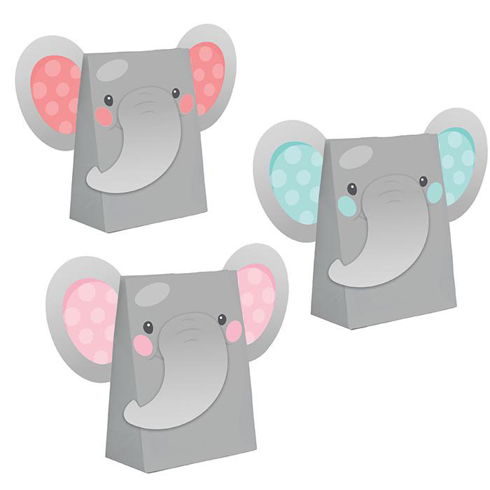Enchanting Elephants Girl Party Bags