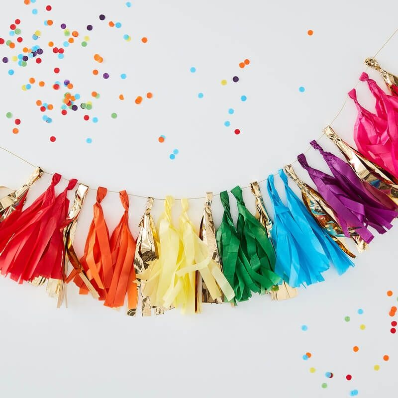 Over The Rainbow Party Tassle Garland