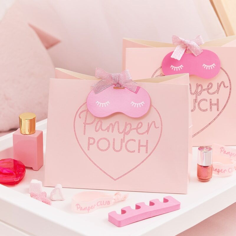 Pink Glitter Pamper Party Bags