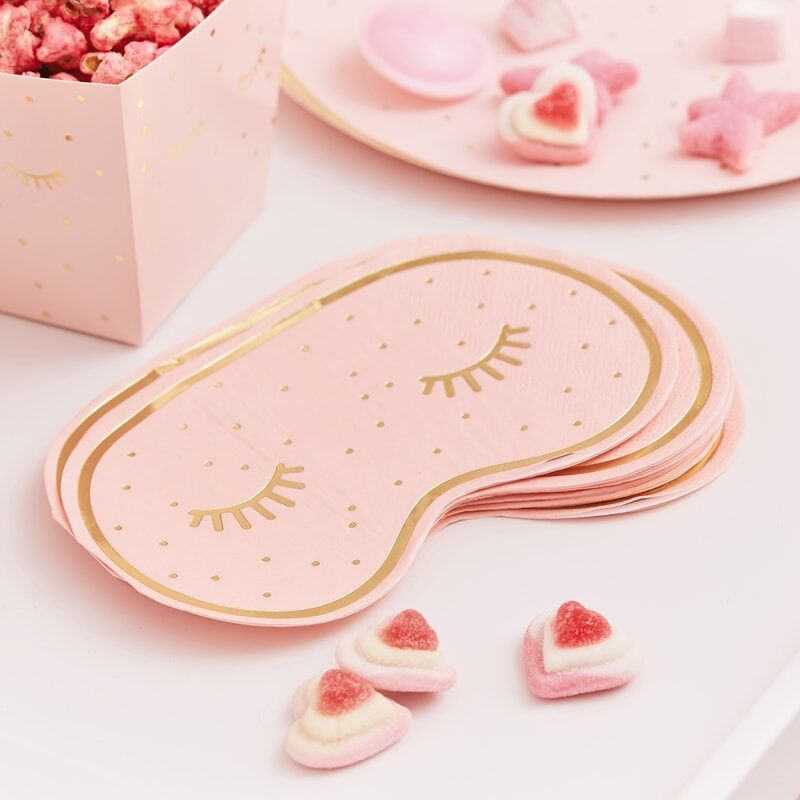 Pink Pamper Face Mask Napkins