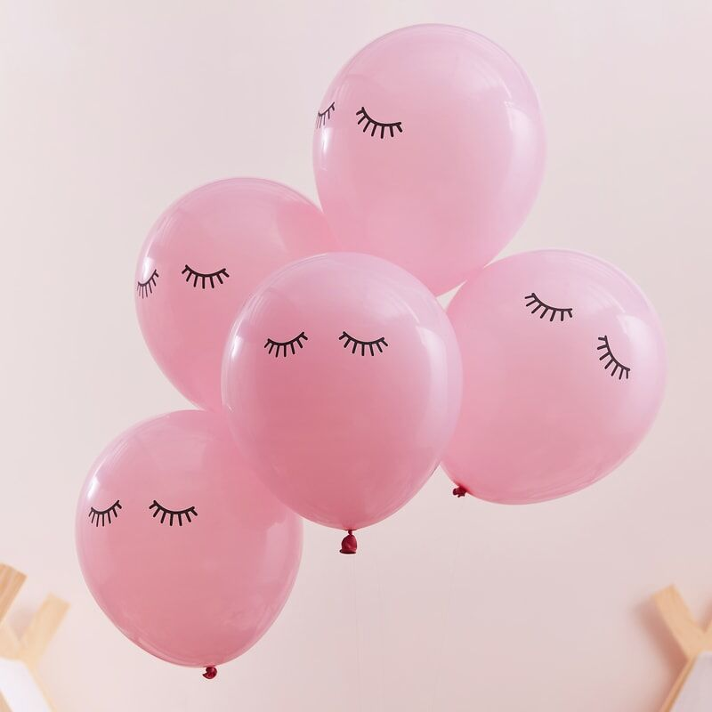 Pink Pamper Sleepy Eye Party Balloons