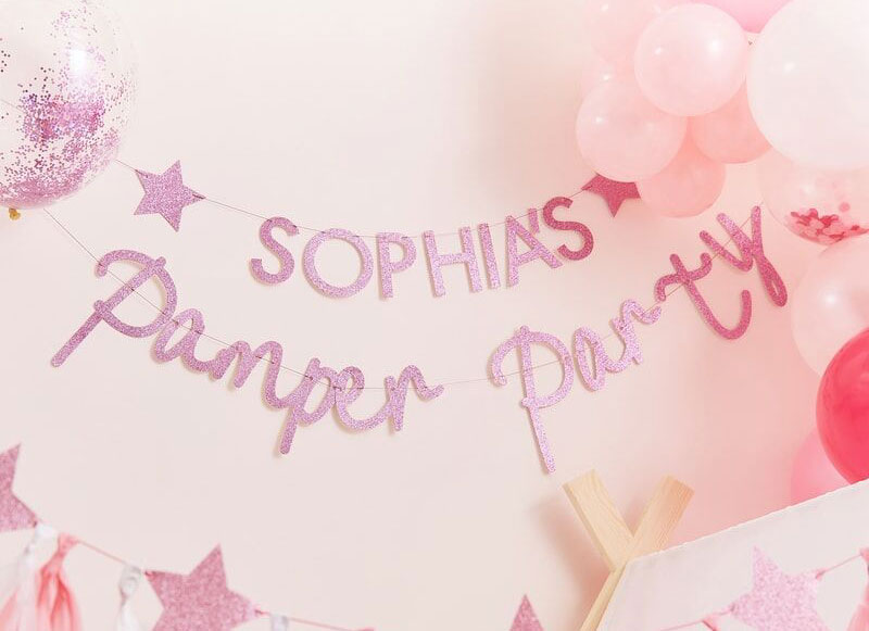 Pink Pamper Personalised Banner Kit
