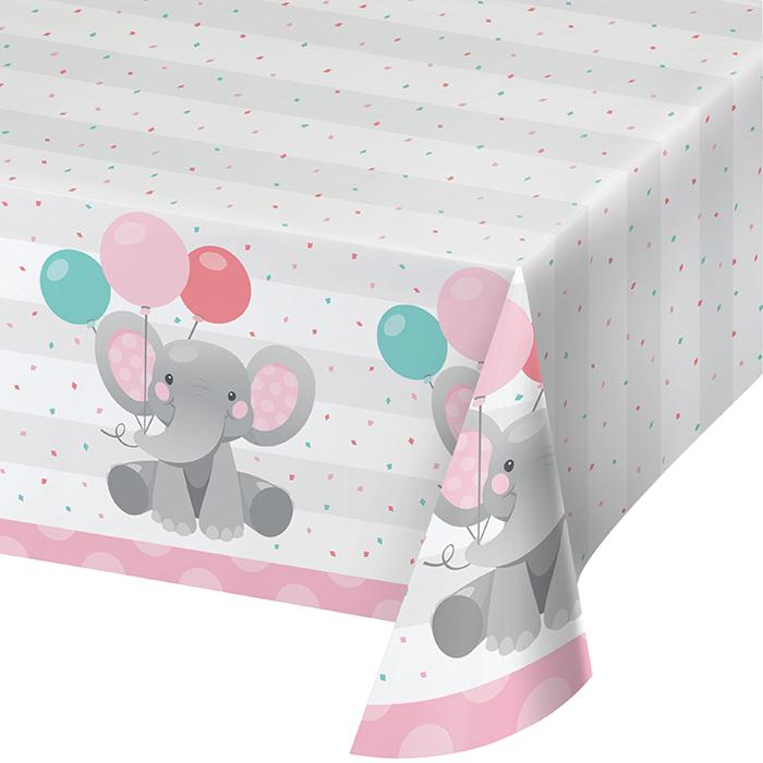 Enchanting Elephants Girl Party Tablecovers