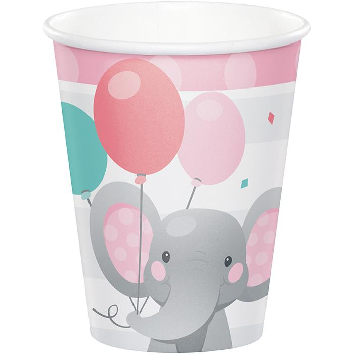 Enchanting Elephants Girl Party Cups
