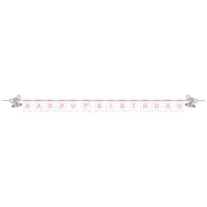 Enchanting Elephants Girl DIY Party Banner Kit
