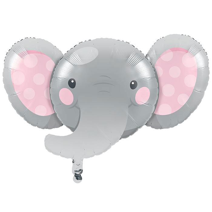 Enchanting Elephants Girl Party Foil Balloons