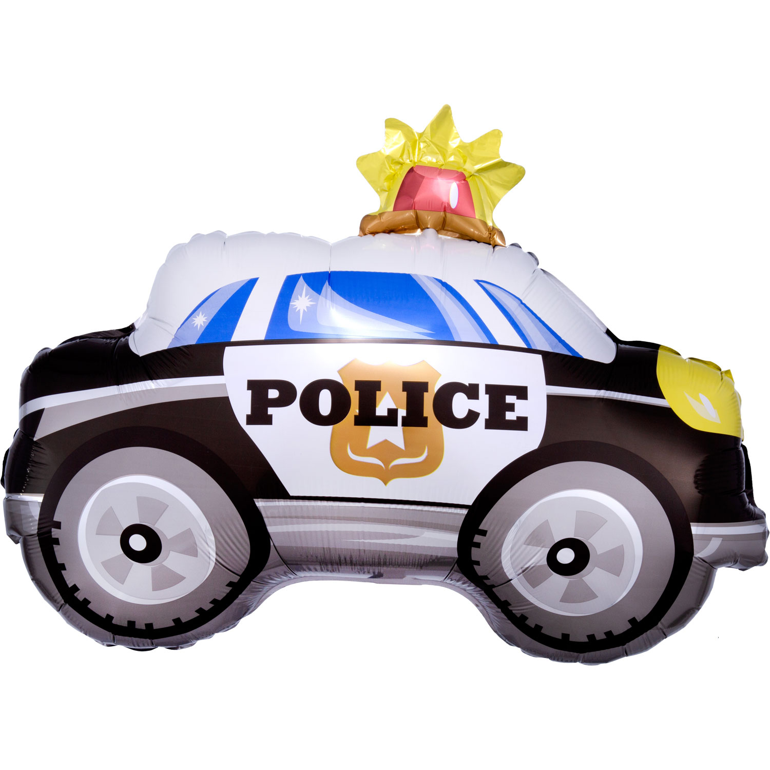 On The Road Party Police Car Foil Balloon