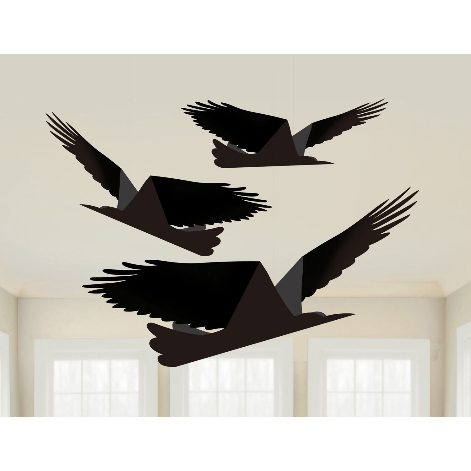 Boneshine Fever Paper Ravens Decorations