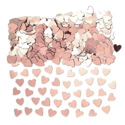 Rose Gold Heart Metallic Table Confetti