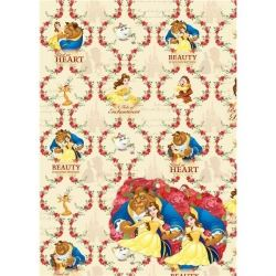 Disney Beauty And The Beast Gift Wrap And Tags