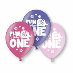 Fun To  Be One Birthday Girl Party Balloons