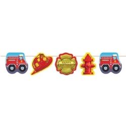 Fire Engine Party Banner