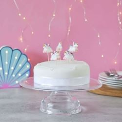 Smiling Faces Party Candles Unicorns