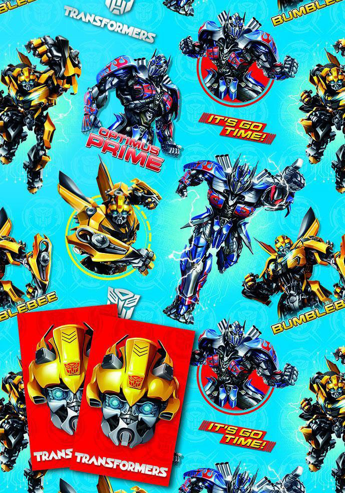 Transformers Gift Wrap And Tags