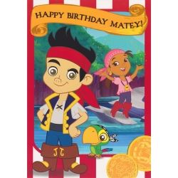 Jake And The Neverlands Happy Birthday Card