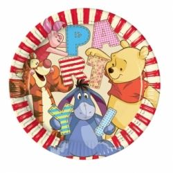 Winnie The Pooh Party Alphabet  Plate