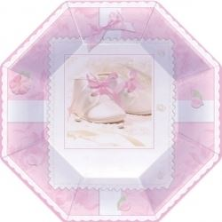 Tiny Blessings Girl Christening Party Plates