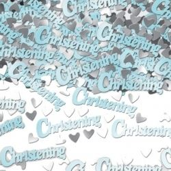 Christening Boy Metallic Table Confetti