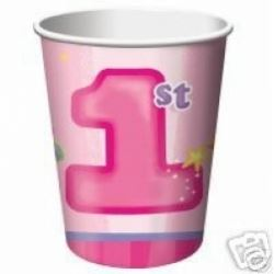 1st Birthday Fun To Be One Girl Party Cups