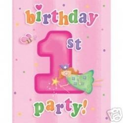 1st Birthday Fun To Be One Girl Party Invitations