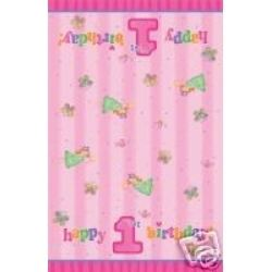 1st Birthday Fun To Be One Girl Party Tablecover