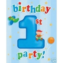 1st Birthday Fun To Be One Boy Party Invitations