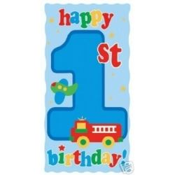 1st Birthday Fun To Be One Boy Party Door Banner